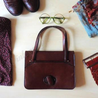 Elena Mini Borsello Marrone & Montatura occhiali tonda vintage