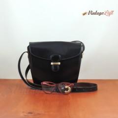 Tracolla Pelle Nera Montenapoleone & Occhiali Vista Saphira Vintage